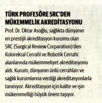 Dünya Gazetesi - Türk Profesöre SRC'den Mükemmellik Akreditasyonu