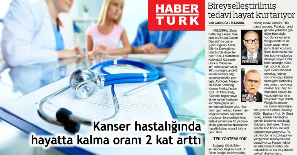 HaberTürk - Kanser Hastalığında Hayatta Kalma Oranı 2 Kat Arttı.