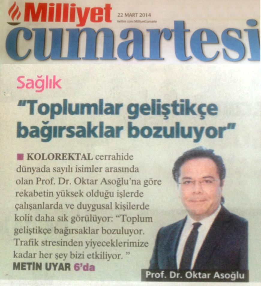 Milliyet Gazetesi - Kolit Duygusal İnsanlarda Daha Sık Görülüyor.