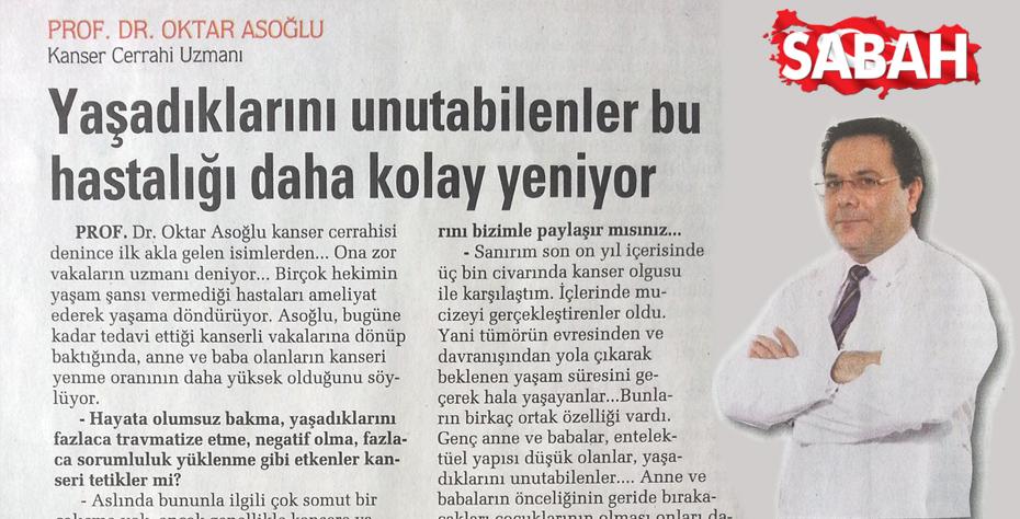 Sabah Gazetesi - Yaşadıklarını Unutabilenler Bu Hastalığı Daha Kolay Yeniyor.
