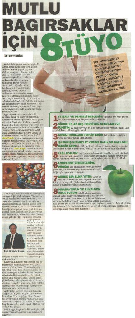 Şalom Gazetesi - Mutlu Bağırsak İçin 8 Tüyo