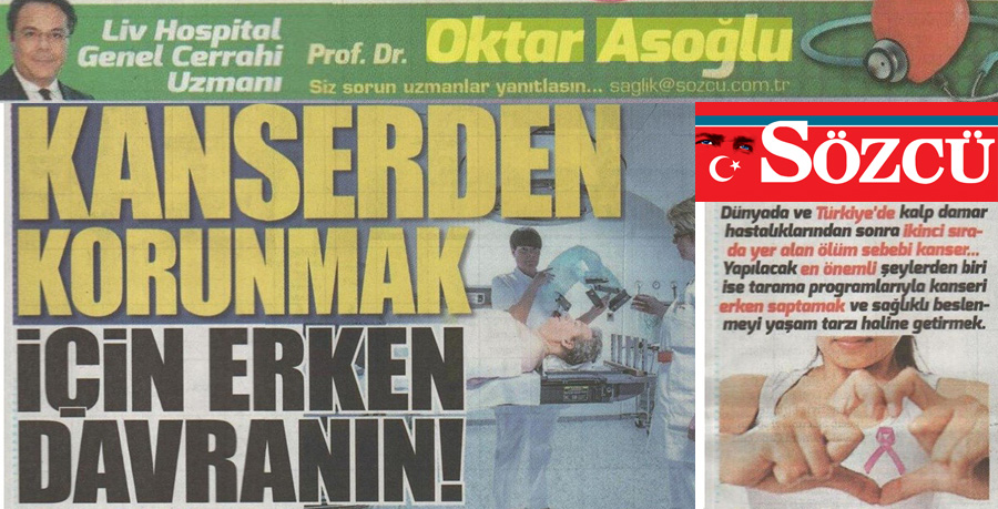 Sözcü Gazetesi - Kanserden Korunmak İçin Erken Davranın!